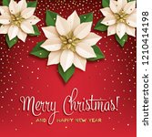 christmas star. poster with... | Shutterstock . vector #1210414198
