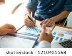 businessmen are discussing and... | Shutterstock . vector #1210425568