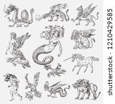 Set Of Mythological Animals....
