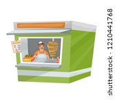 isolated illustration of kebab... | Shutterstock .eps vector #1210441768