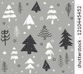 seamless pattern with christmas ... | Shutterstock .eps vector #1210445452