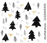 seamless pattern with christmas ... | Shutterstock .eps vector #1210445455