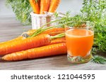 Carrot Juice In Glass And...