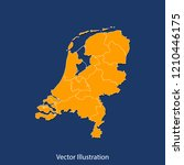 netherlands map   high detailed ... | Shutterstock .eps vector #1210446175