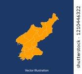 north korea map   high detailed ... | Shutterstock .eps vector #1210446322