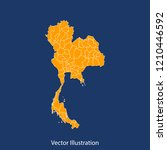 thailand map   high detailed... | Shutterstock .eps vector #1210446592