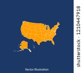 usa map   high detailed color... | Shutterstock .eps vector #1210447918