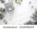 merry christmas and happy... | Shutterstock . vector #1210448245
