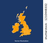 uk counties map   high detailed ... | Shutterstock .eps vector #1210448332