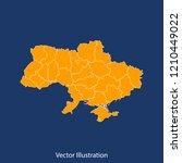 ukraine map   high detailed... | Shutterstock .eps vector #1210449022