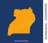 uganda map   high detailed... | Shutterstock .eps vector #1210449055