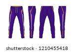 sport sweatpants design... | Shutterstock .eps vector #1210455418