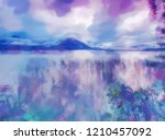 oil painting effect. low level... | Shutterstock . vector #1210457092