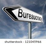 bureaucracy paper work and...   Shutterstock . vector #121045966