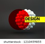 sphere. 3d vector template.... | Shutterstock .eps vector #1210459855