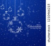 christmas card snowflakes ball... | Shutterstock .eps vector #1210466215