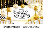 merry christmas and happy new...   Shutterstock .eps vector #1210467952
