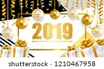 2019 merry christmas and happy...   Shutterstock .eps vector #1210467958