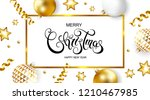merry christmas and happy new... | Shutterstock .eps vector #1210467985