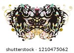 awful tribal butterfly with... | Shutterstock .eps vector #1210475062