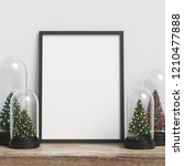 mock up poster frame with... | Shutterstock . vector #1210477888