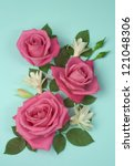Composition Of Pink Roses On A...