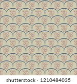 seamless pattern with flowers   Shutterstock .eps vector #1210484035