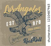 vintage rock and roll vector... | Shutterstock .eps vector #1210487965