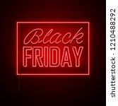 black friday background. neon... | Shutterstock .eps vector #1210488292