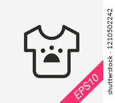 t shirt icon isolated on...