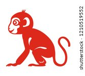 monkey zodiac symbol. templates ... | Shutterstock .eps vector #1210519552