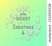white paper cut of vector... | Shutterstock .eps vector #1210520128
