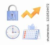 vector gradient icons  padlock  ... | Shutterstock .eps vector #1210524472