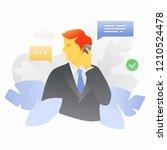 vector illustration of a man in ... | Shutterstock .eps vector #1210524478