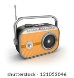 retro radio on white background | Shutterstock . vector #121053046