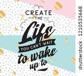 inspirational quote  motivation.... | Shutterstock .eps vector #1210535668