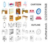 furniture and interior cartoon... | Shutterstock .eps vector #1210554568