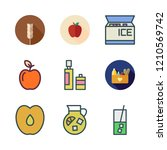 vector set about olive oil ... | Shutterstock .eps vector #1210569742