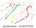 hand drawn set of colorful ink... | Shutterstock .eps vector #1210573765