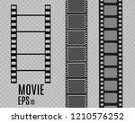 set of film vector stripes... | Shutterstock .eps vector #1210576252