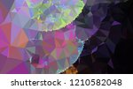 geometric low polygonal... | Shutterstock .eps vector #1210582048
