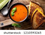 delicious homemade tomato soup... | Shutterstock . vector #1210593265