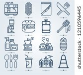 simple set of 16 icons related... | Shutterstock .eps vector #1210596445