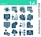simple set of 16 icons related... | Shutterstock .eps vector #1210597558