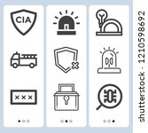 simple set of  9 outline icons... | Shutterstock .eps vector #1210598692