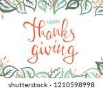 thanksgiving lettering.... | Shutterstock .eps vector #1210598998