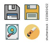 vector set about hard disk ... | Shutterstock .eps vector #1210601422