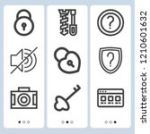 simple set of  9 outline icons... | Shutterstock .eps vector #1210601632
