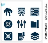 simple set of  9 filled icons... | Shutterstock .eps vector #1210601662