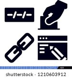 interface related filled vector ... | Shutterstock .eps vector #1210603912